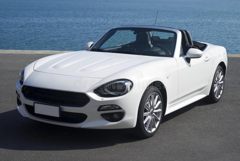 White convertible car stock image