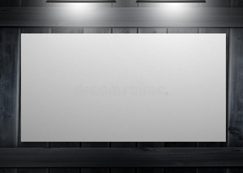 Download White Copy Space Poster Hung On A Wall Stock Illustration - Image: 30883478