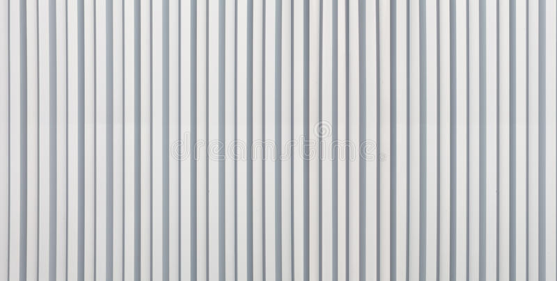 White Corrugated Metal Background And Texture Stock Photo