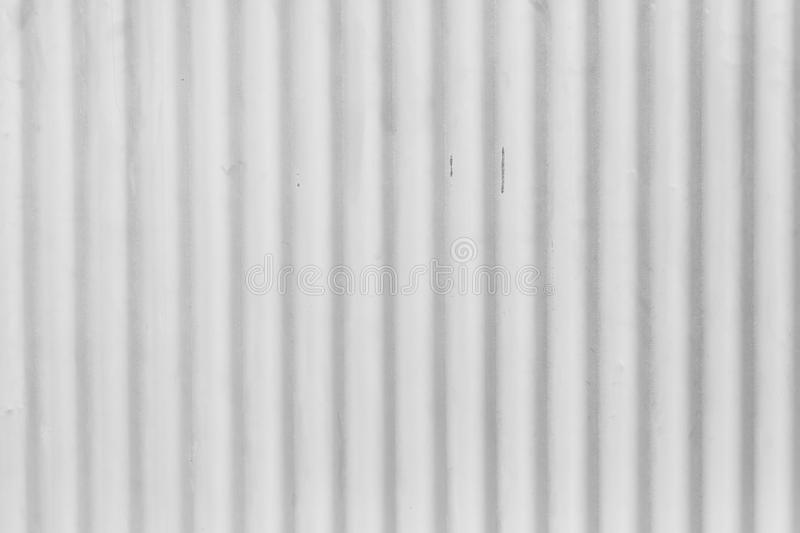 White Corrugated Metal Background And Texture Stock Image