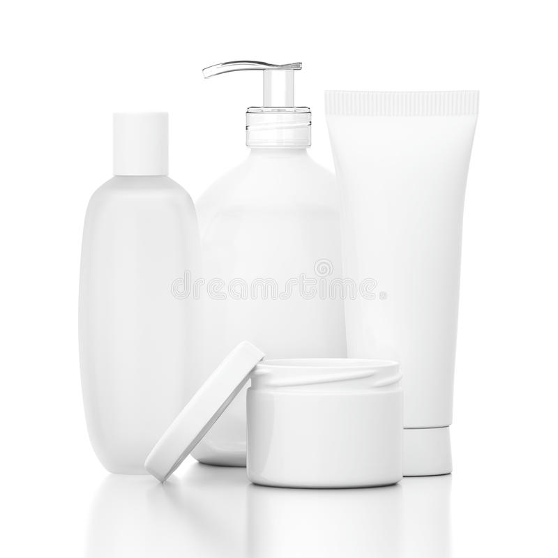 Download White Cosmetic Bottles stock photo. Image of health, pump - 26653158