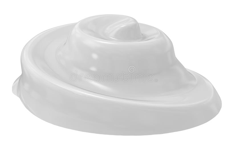 White cosmetic cream. 3d rendering white cosmetic cream isolated on white royalty free illustration