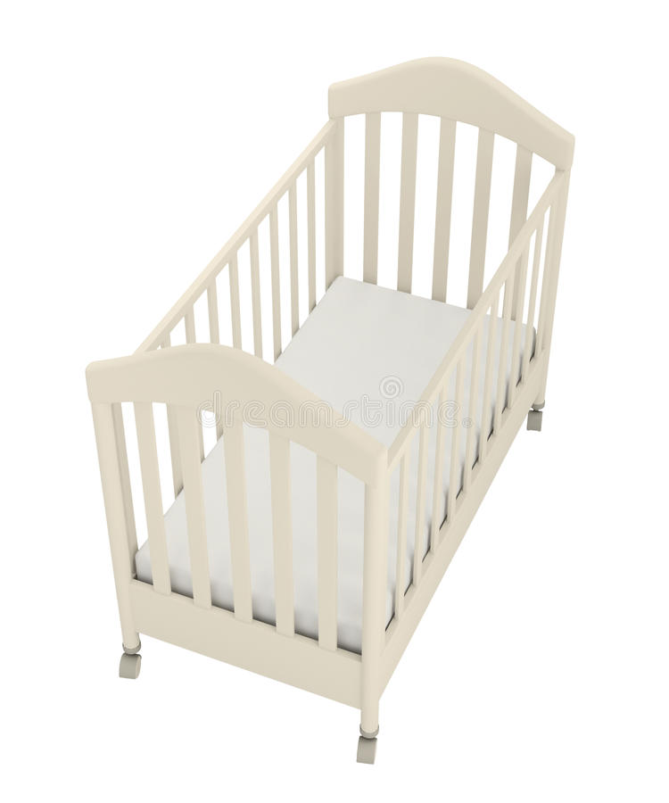 Free White Cot Royalty Free Stock Images - 22703929