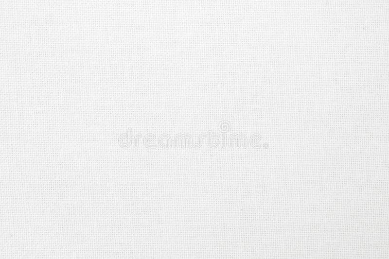 White cotton fabric texture background, seamless pattern of natural textile vector illustration