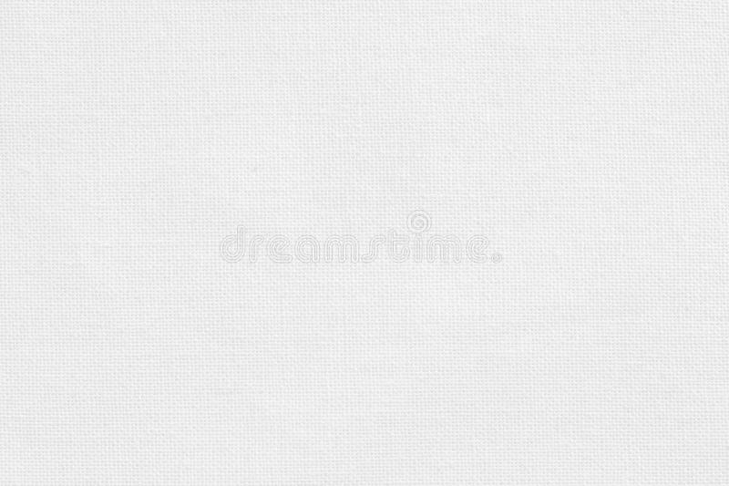 White cotton fabric texture background, seamless pattern of natural textile stock image