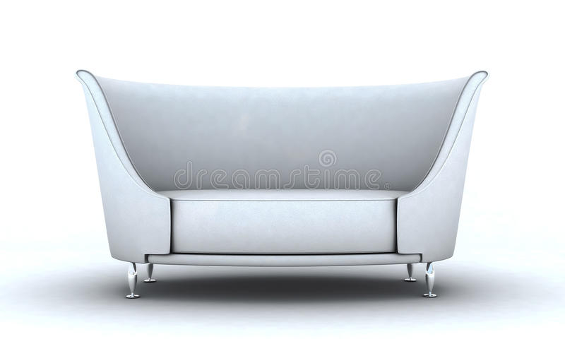 White couch stock photography