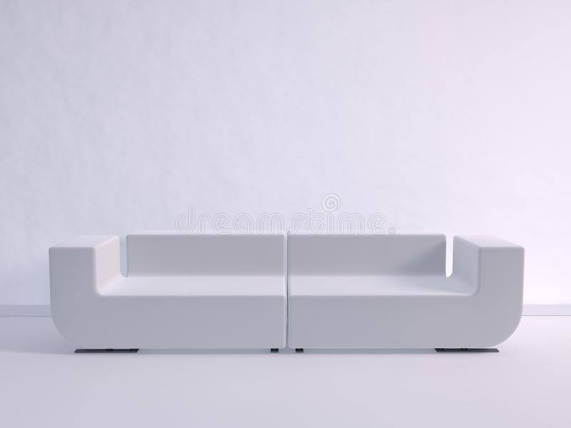 Download White Couch stock illustration. Image of elegance, furnishing - 31777094