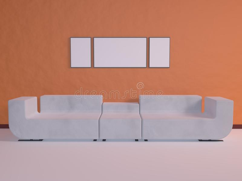 Download White Couch stock illustration. Illustration of illustration - 31777165