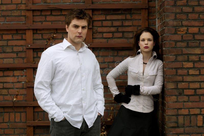 White Couple royalty free stock photo