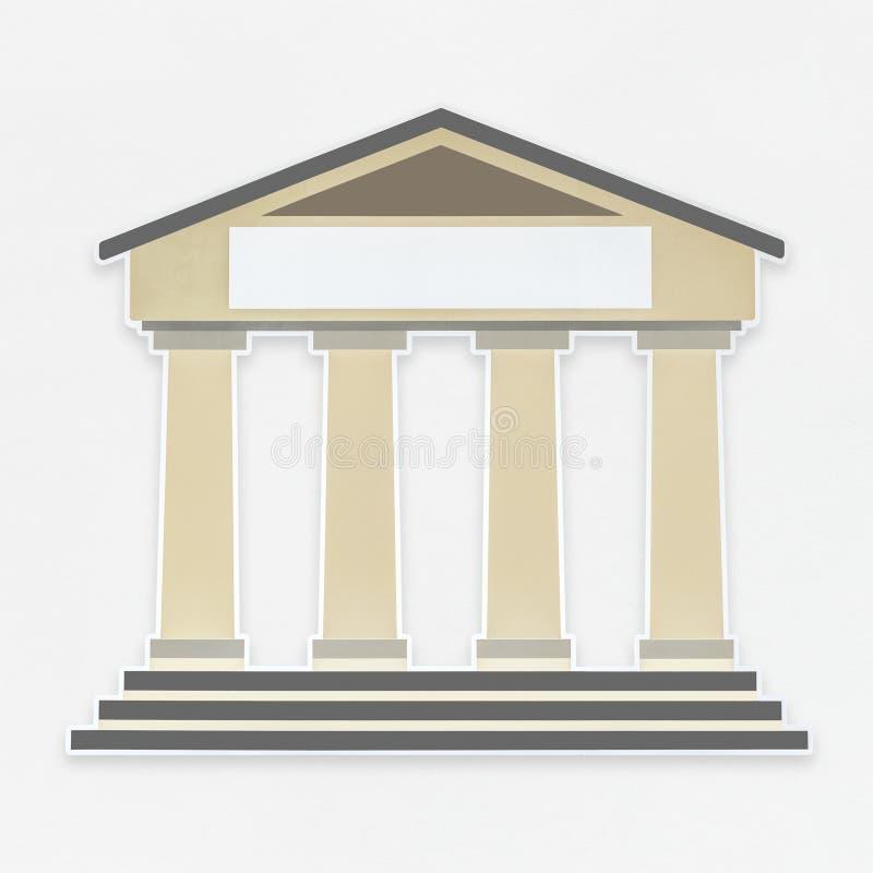 White court house icon royalty free illustration