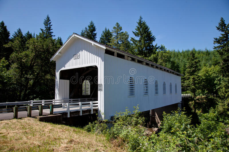 White Covered Bridge royalty free stock photography