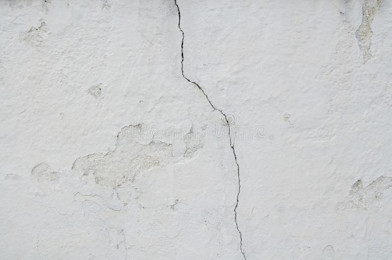 White Crack in The Old Vintage Wall Cracks Texture for background and design art work. For background and design art work Texture for background and design art stock image