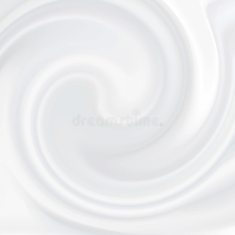 White cream. Cosmetic product, liquid texture milky. White cream. Cosmetic product, liquid texture milky, cream, white soft mousse royalty free illustration