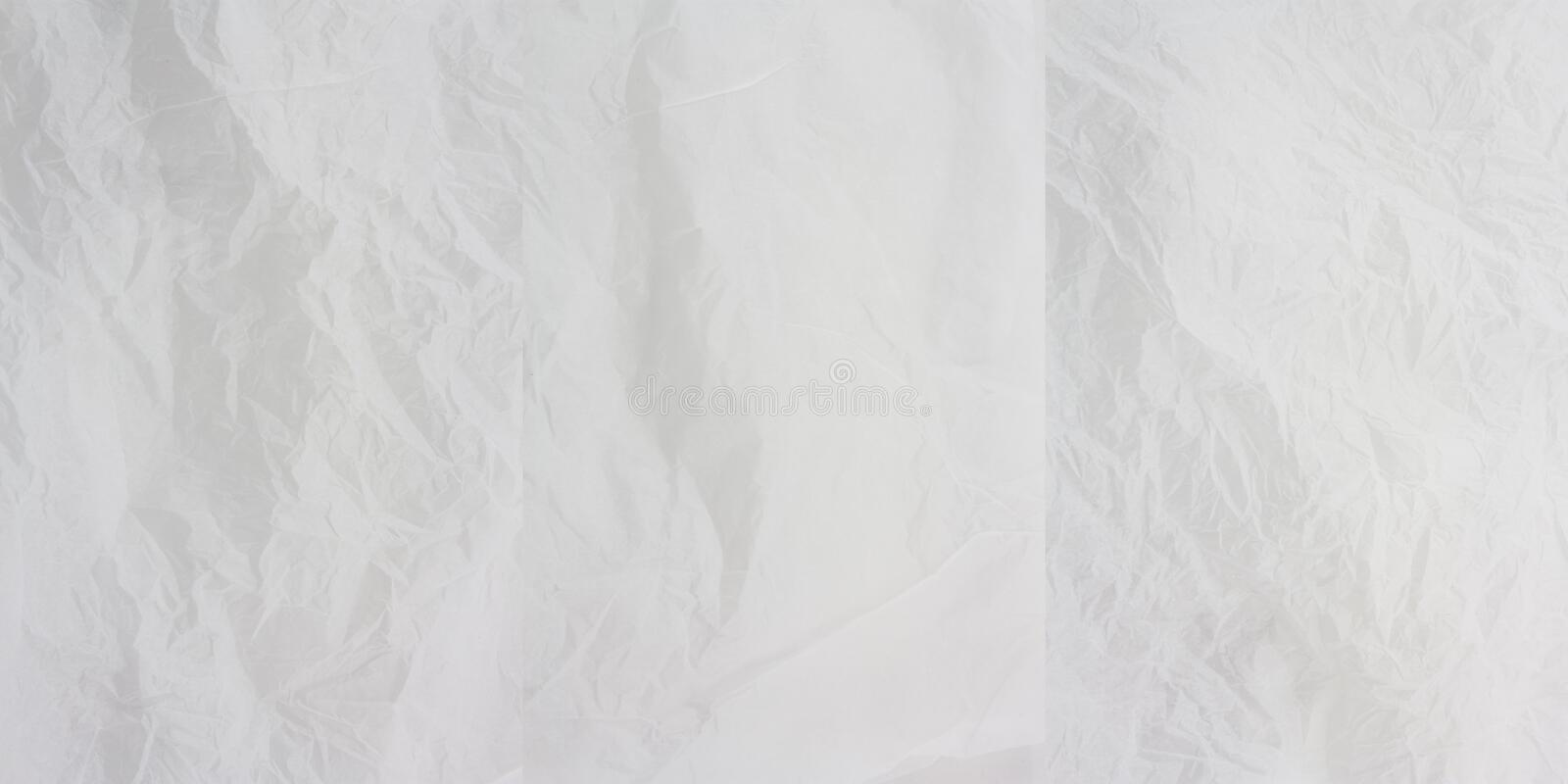 White Creased Paper x 3 royalty free stock photography