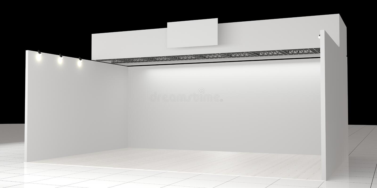 White creative exhibition stand design. Booth template. Corporate royalty free stock images