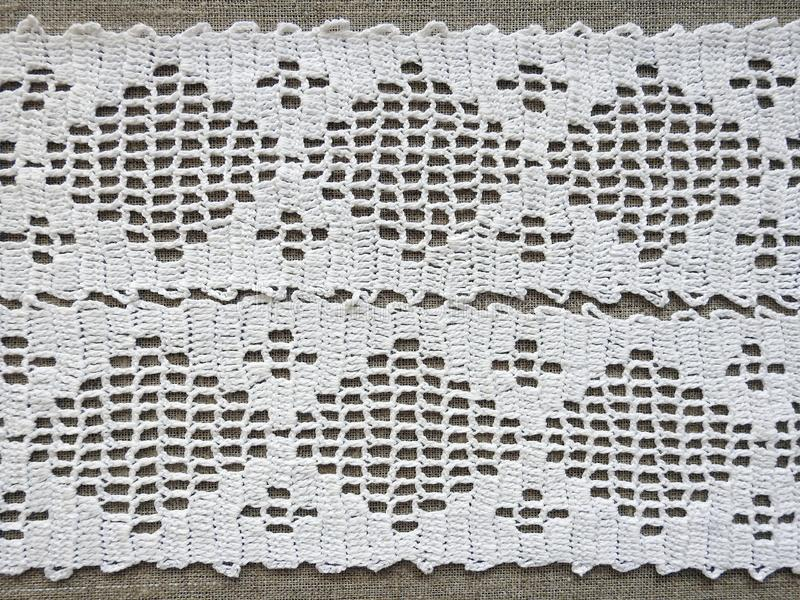 Beuteful crochet surface with ornaments, Lithuania stock image