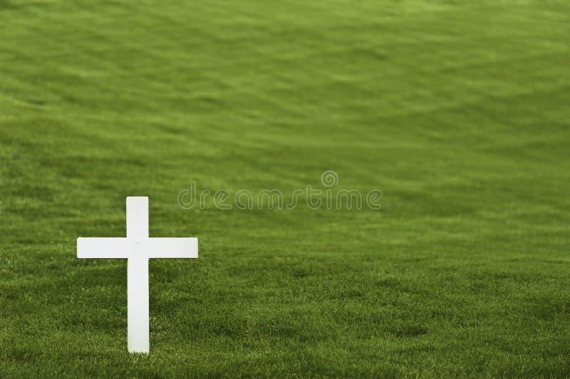 White cross royalty free stock image