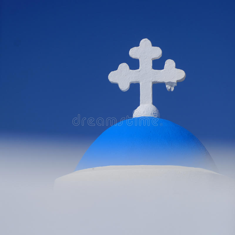 Download White Cross On Domed Church Stock Image - Image: 34481951