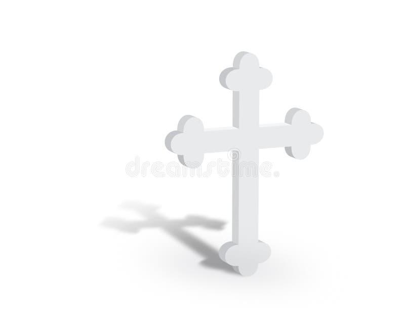 White Cross Standing Left royalty free illustration