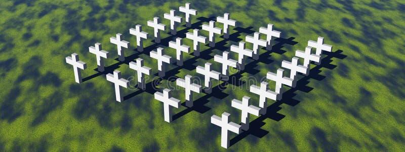 Download White crosses stock illustration. Image of honor, decease - 21578276