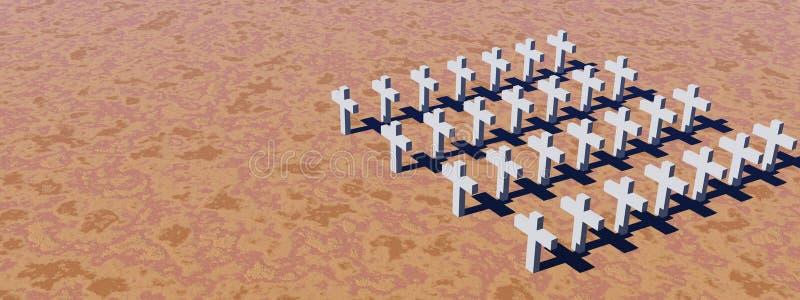 White crosses royalty free illustration