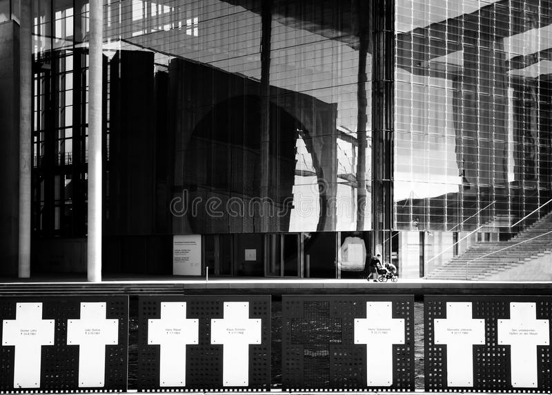 White crosses berlin stock photo