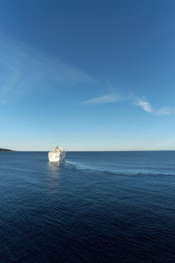 Free White Cruise Ship In Mediterranean Sea Stock Photos - 23938163
