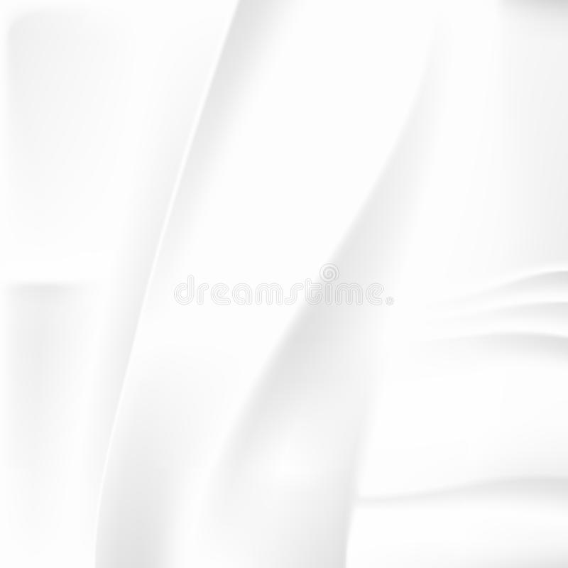 White Crumpled Abstract Background stock illustration