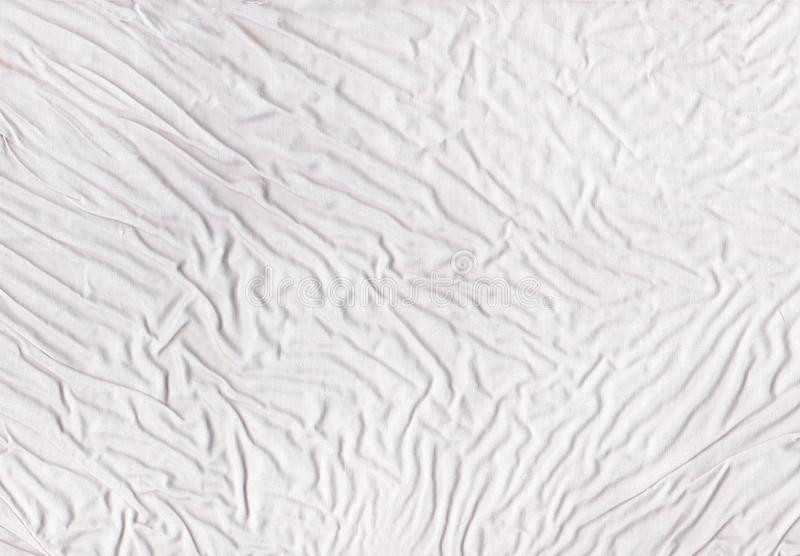 White crumpled fabric texture royalty free stock photography
