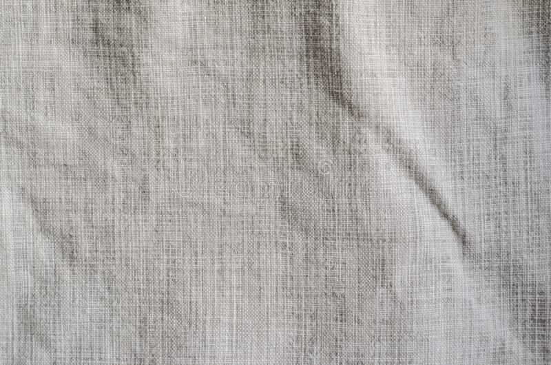 White Crumpled Linen Background. stock photos