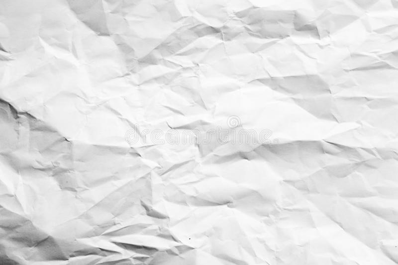 White crumpled paper background abstract wrinkled stock photo