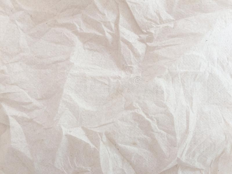 Full frame of white crumpled paper background royalty free stock photography