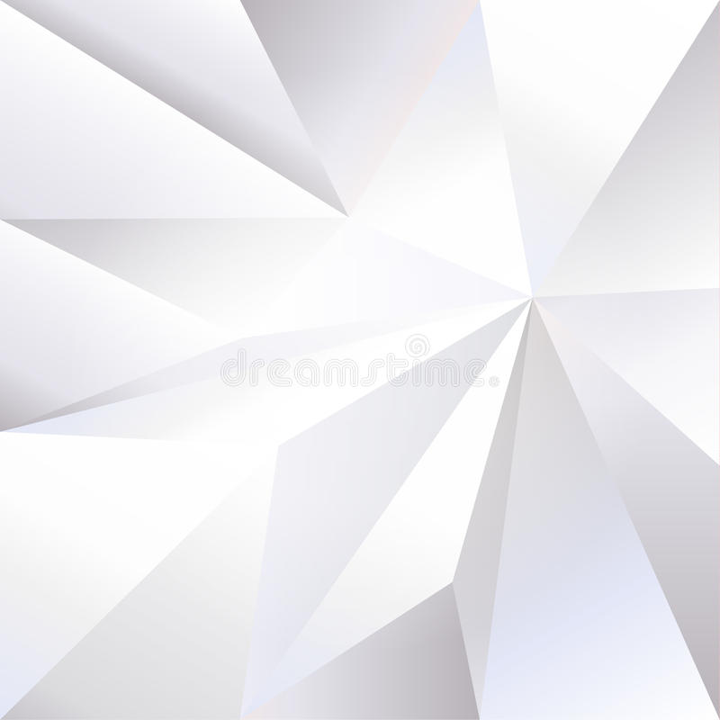 White Crumpled Paper 3D Triangle Monochrome Wallpaper Stock Vector