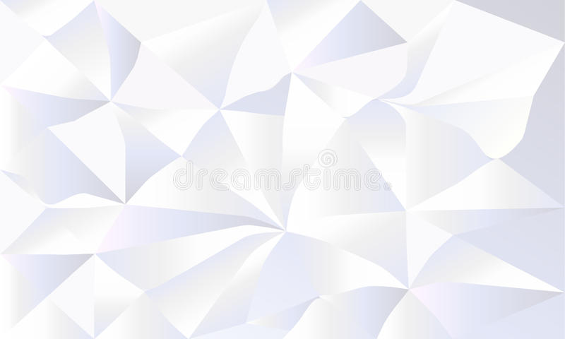 White Crumpled Paper 3D Wallpaper Stock Vector