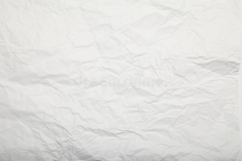 White crumpled paper texture. Gentle background. stock photography