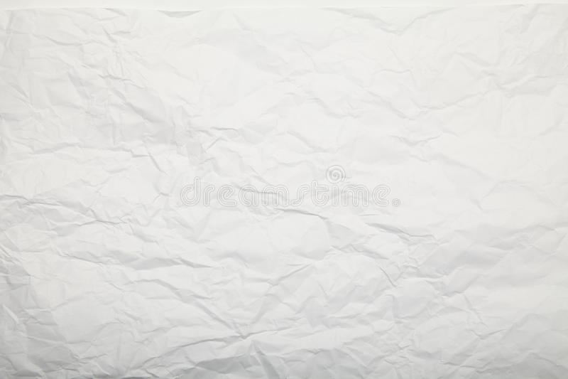 White crumpled paper texture. Gentle background. royalty free stock images