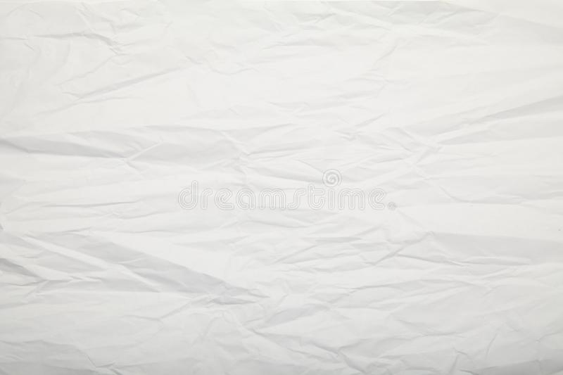 White crumpled paper texture. Gentle background. stock photo