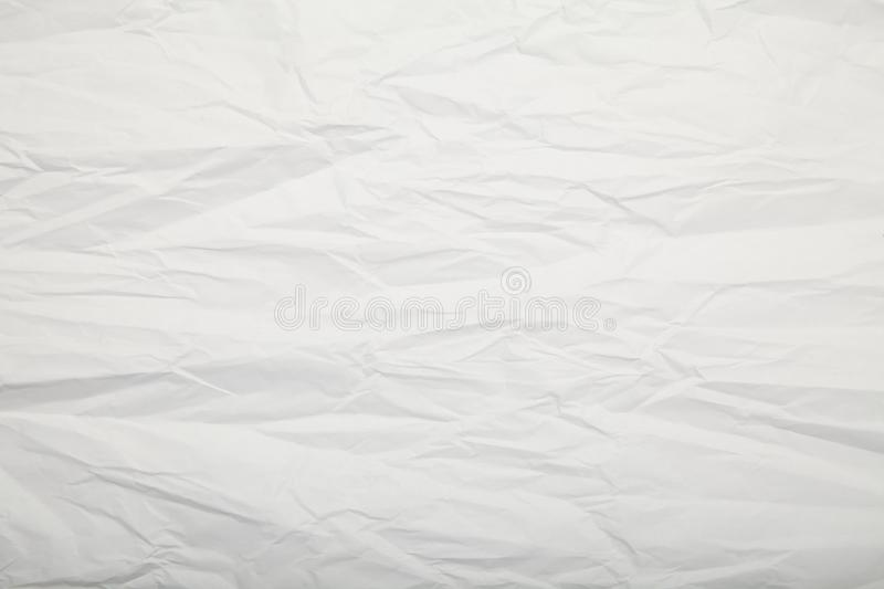 White crumpled paper texture. Blank. royalty free stock photography