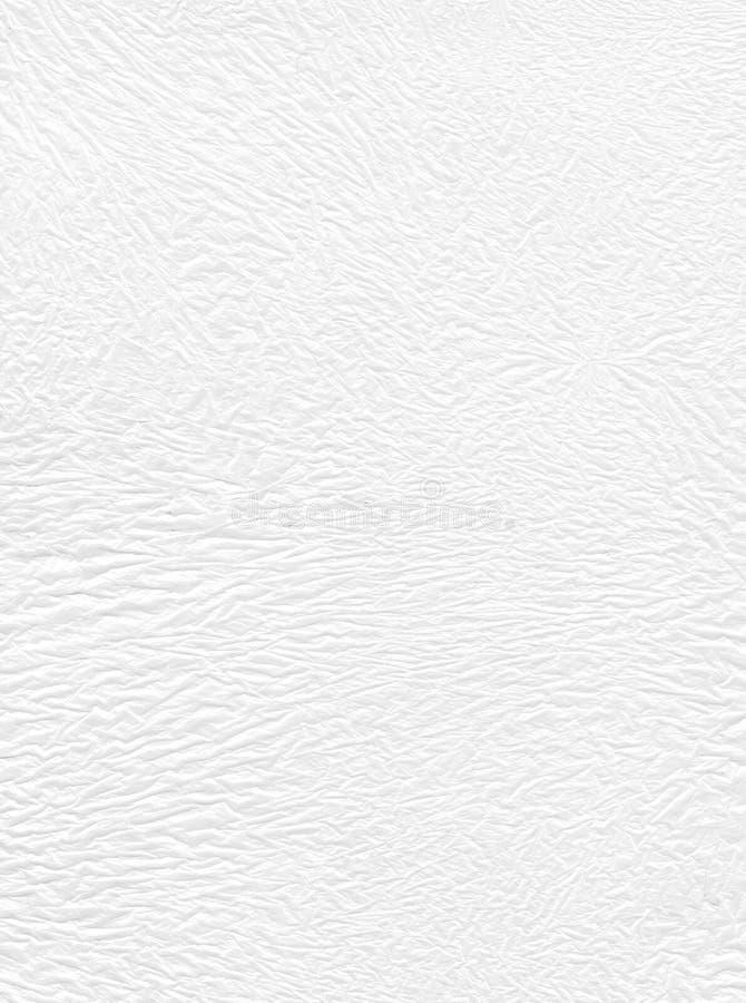 White crumpled polyethylene stock photos