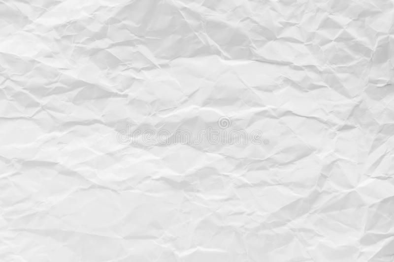 White crumpled recycled paper texture background for business communication and education design royalty free stock image