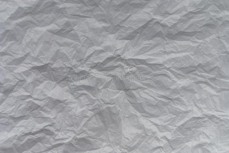 A white crumpled sheet of paper texture background for a blog, vlog or site stock photo