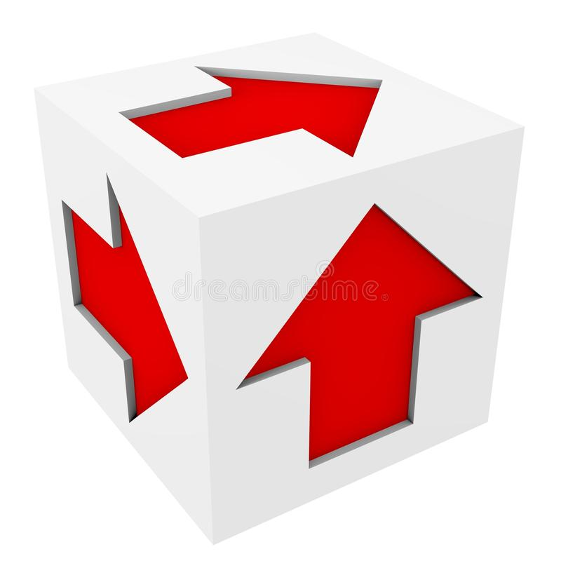 Download White cube stock illustration. Image of concept, icon - 24258111