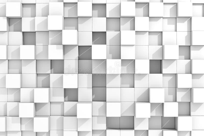White cubes background. royalty free illustration