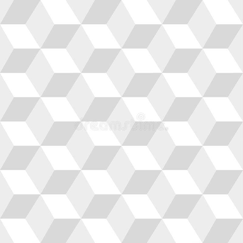 White cubes seamless vector pattern. Vector background royalty free illustration