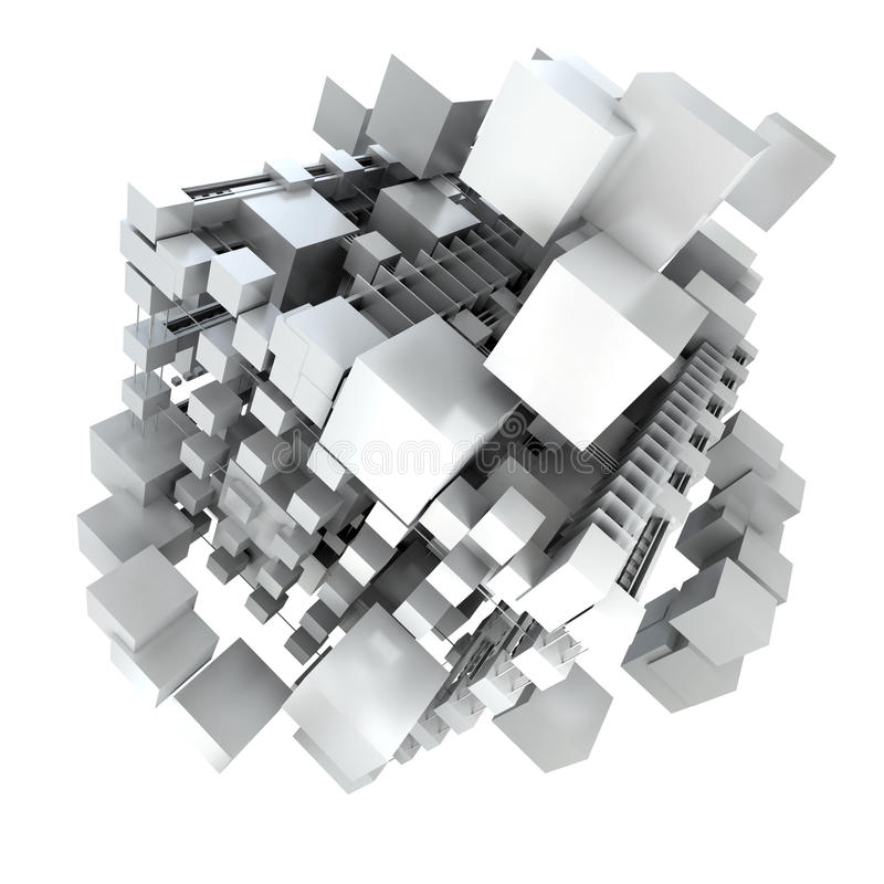 Download White cubic structure stock illustration. Image of background - 12186698
