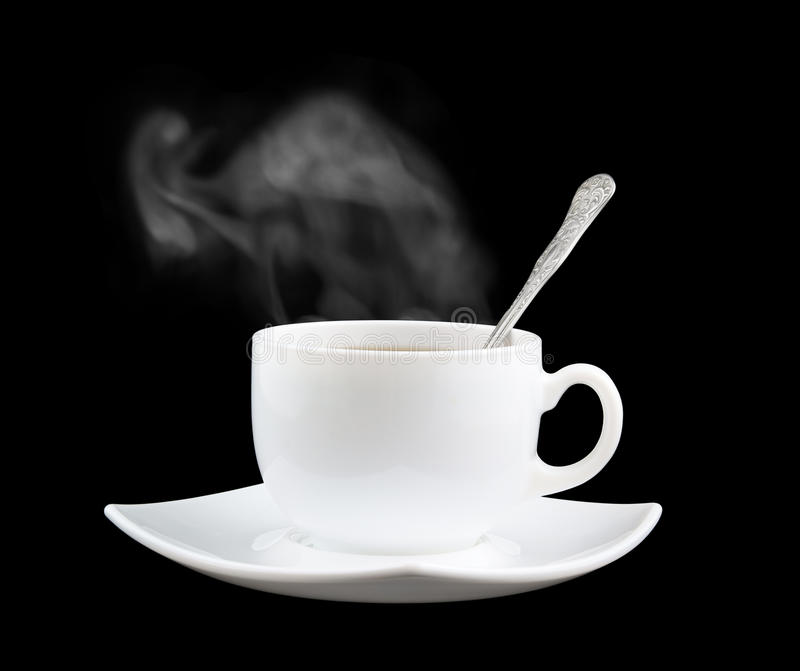 Download White Cup Of Fresh Tea Or Coffee With Vapor Stock Image - Image: 15627131