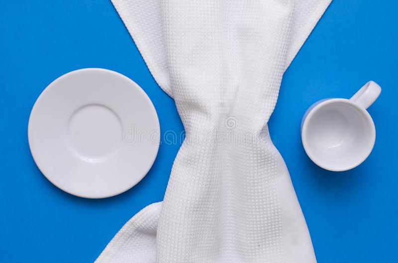 Cup and plat. stock image