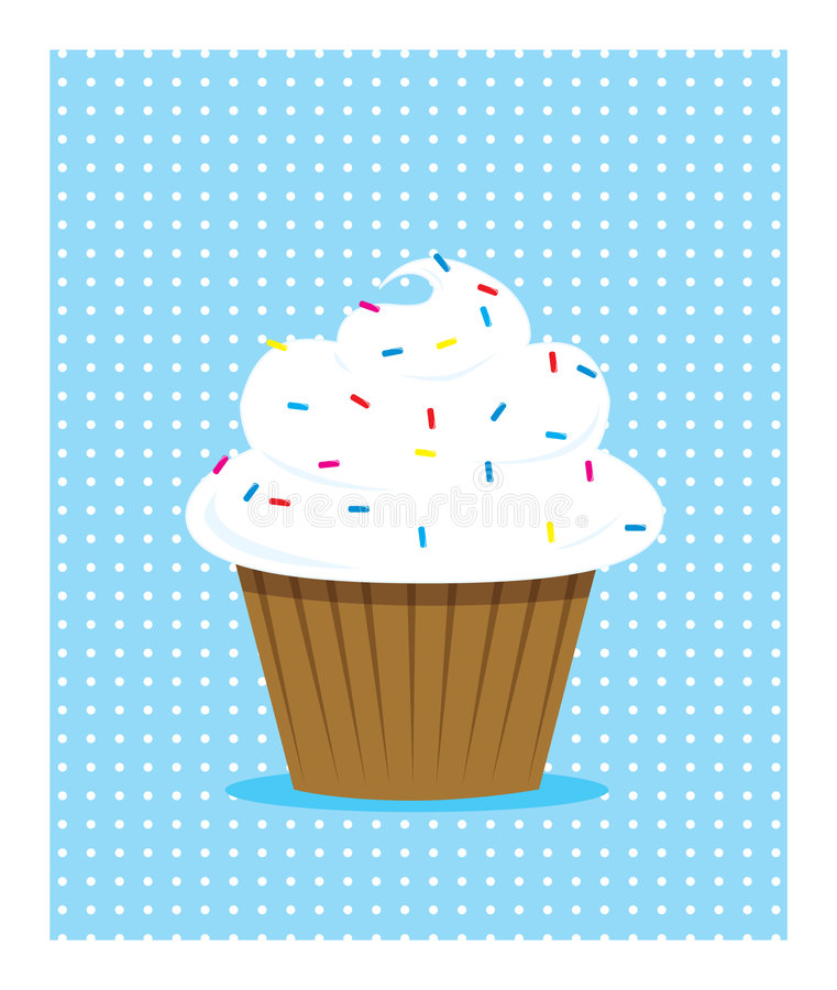 White Cupcake Stock Photos