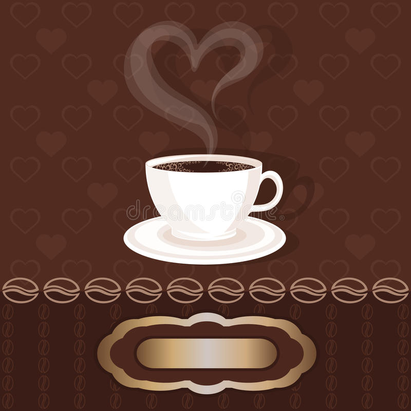 Free White Cupful With Coffee And Steam Heart Stock Photo - 36767410