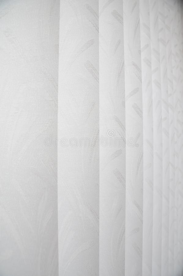 White curtain stock photography